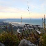 entspannter Blick vom Mt. Pupka ueber die Golden Bay....