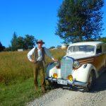 Dr Michael von Pupka Lipinski mit seinem Mercedes 170 SD (eine geile Karre!)