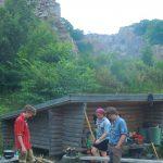 Shelter mit Feuerstelle