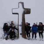 Gemeinsames Gruppenfoto nach einem langen anstrengenden Aufstieg