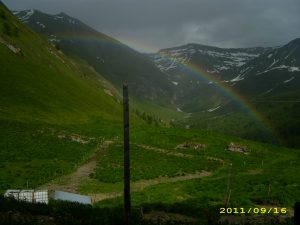 Über uns ein Regenbogen ...